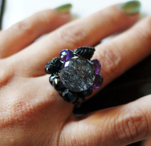 Tribute to Goth wirewrap ring